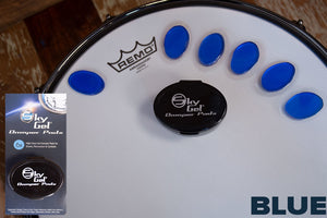 SKY GEL DRUM DAMPER PADS (6 PIECES PLUS CONTAINER) BLUE