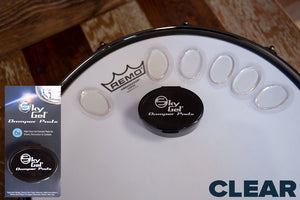 SKY GEL DRUM DAMPER PADS (6 PIECES PLUS CONTAINER) CLEAR