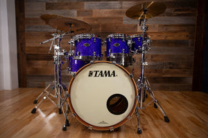TAMA STARCLASSIC PERFORMER B/B BIRCH BUBINGA, 5 PIECE DRUM KIT, MADE IN JAPAN, COBALT GLITTER BLAST (PRE-LOVED)