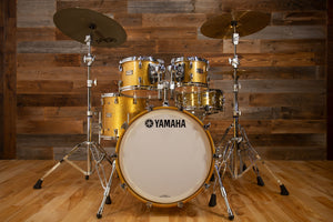 YAMAHA ABSOLUTE HYBRID MAPLE 4 PIECE DRUM KIT, GOLD CHAMPAGNE SPARKLE