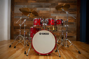 YAMAHA ABSOLUTE HYBRID MAPLE 5 PIECE DRUM KIT, RED AUTUMN LACQUER