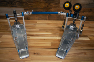 YAMAHA DFP9C DUAL CHAIN DRIVE DOUBLE BASS DRUM PEDAL WITH CASE