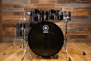 YAMAHA LIVE CUSTOM OAK 6 PIECE DRUM KIT, BLACK SHADOW SUNBURST (EX-MARKETING KIT)