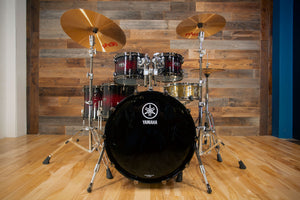 YAMAHA LIVE CUSTOM HYBRID OAK 5 PIECE DRUM KIT, MAGMA SUNBURST