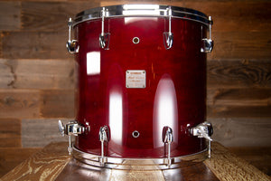 YAMAHA 16 X 15 MAPLE CUSTOM ABSOLUTE FLOOR TOM, CHERRY WOOD (PRE-LOVED)