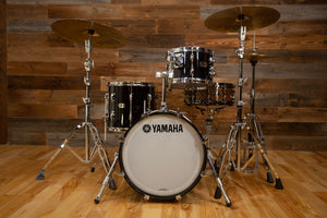 YAMAHA RECORDING CUSTOM 3 PIECE BOP DRUM KIT, SOLID BLACK LACQUER