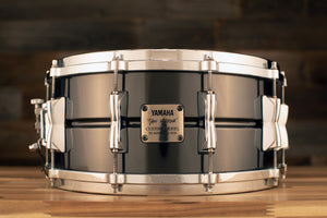 YAMAHA 14 X 6.5 MANU KATCHÉ NICKEL OVER BRASS SIGNATURE SNARE DRUM, SD465MK (PRE-LOVED)