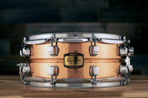 YAMAHA 14 X 5.5 ROY HAYNES SIGNATURE HAMMERED COPPER SNARE DRUM, SD655ARH (PRE-LOVED)