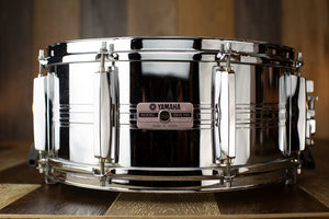 YAMAHA 14 X 6.5 SEVEN SERIES SD765MA SEAMLESS STEEL PARALLEL ACTION SNARE DRUM, MADE IN JAPAN (PRE-LOVED)