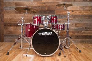 YAMAHA STAGE CUSTOM BIRCH, 5 PIECE DRUM KIT, CRANBERRY RED LACQUER