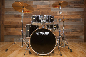 YAMAHA STAGE CUSTOM BIRCH, 5 PIECE DRUM KIT, RAVEN BLACK LACQUER