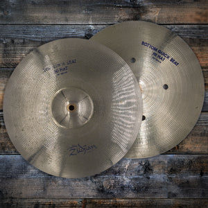 "ZILDJIAN 14"" AVEDIS PLATINUM QUICK BEAT HI-HATS CYMBAL PAIR (PRE-LOVED)"