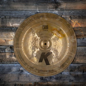 "ZILDJIAN 17"" K CHINA BOY CYMBAL (PRE-LOVED) SN: JC 26911-107"