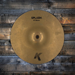 "ZILDJIAN 8"" K SPLASH CYMBAL BRILLIANT FINISH (PRE-LOVED)"