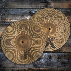 "ZILDJIAN 14"" K CUSTOM HIGH DEFINITION HI-HAT CYMBALS (PAIR) (PRE-LOVED)"