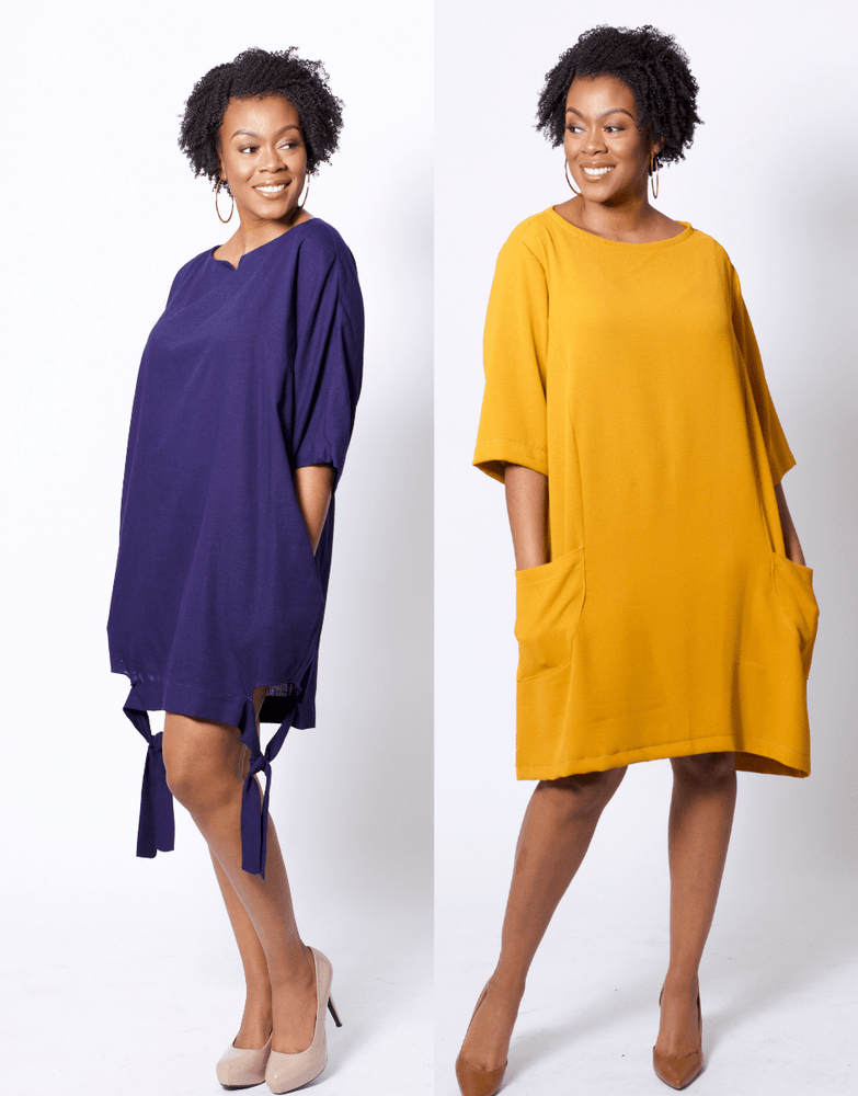Erin Oversized Dress With Pockets Sewing Pattern