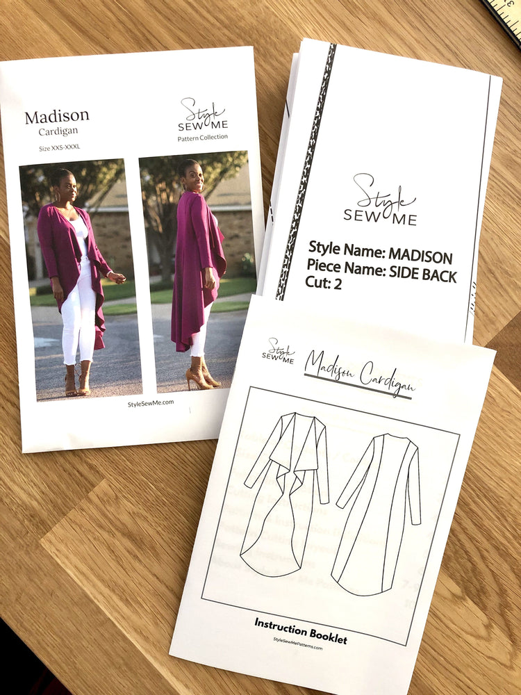 Load image into Gallery viewer, Madison Waterfall Long Cardigan Sewing Pattern