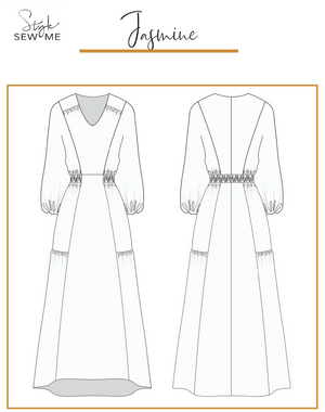 Load image into Gallery viewer, Jasmine Gathered Maxi Dress - Digital
