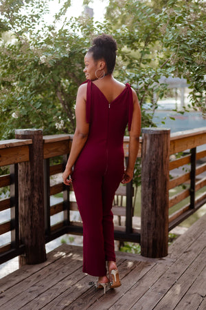 Load image into Gallery viewer, Naomi Tie Shoulder Dress Jumpsuit Sewing Pattern