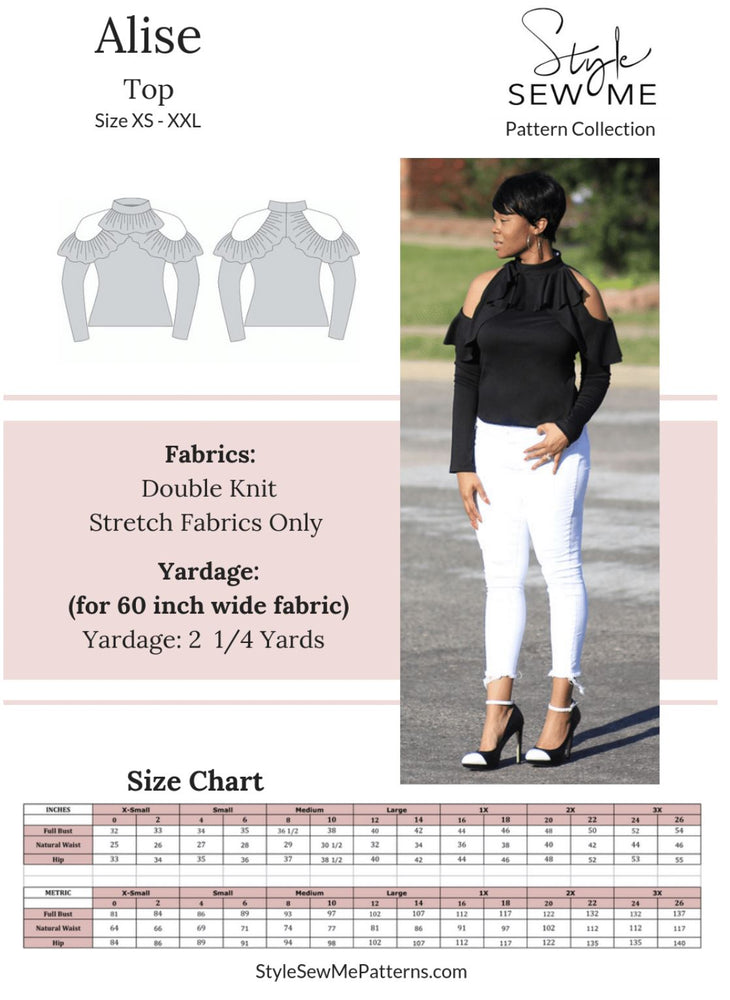 Alise Top Patterns Style Sew Me Patterns