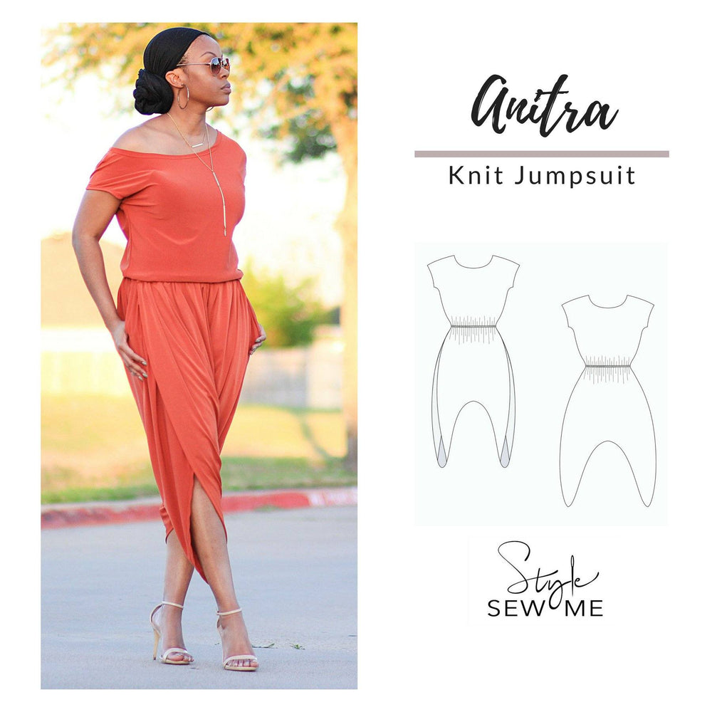 Load image into Gallery viewer, Anitra Jumpsuit Patterns Style Sew Me