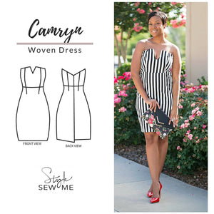 Camryn Dress Patterns Style Sew Me Patterns