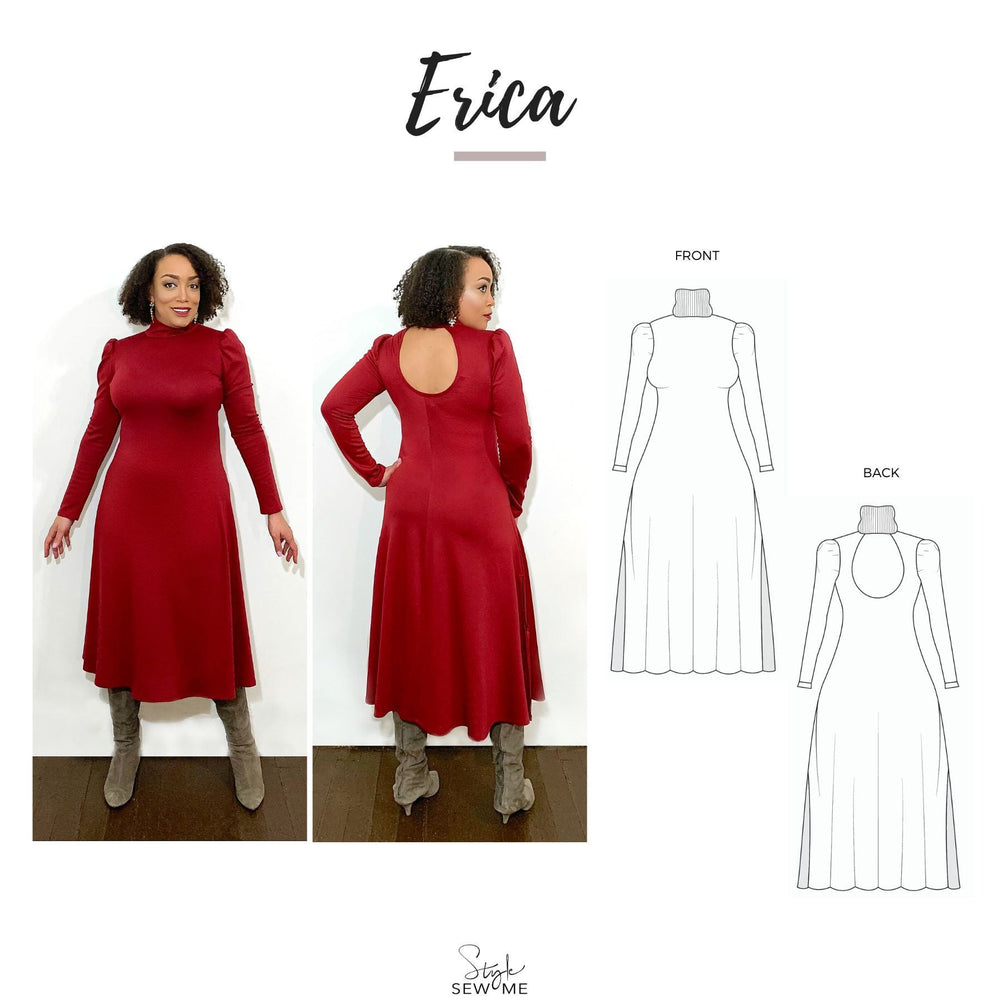 Load image into Gallery viewer, Erica - PDF Patterns Style Sew Me Patterns PDF Download All Sizes