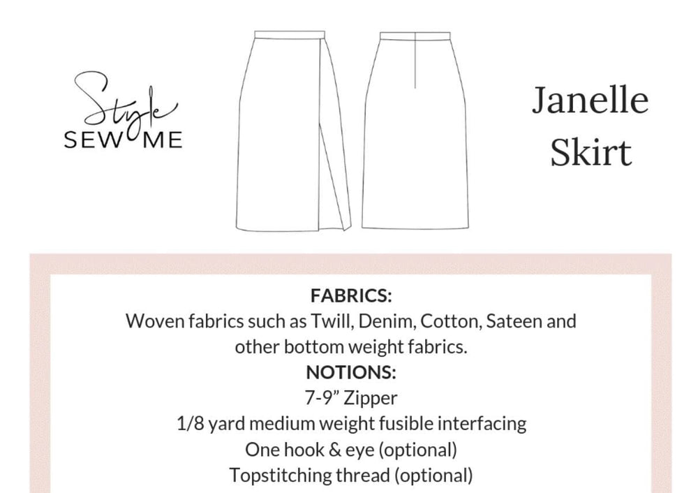 Load image into Gallery viewer, Janelle Skirt Patterns Style Sew Me