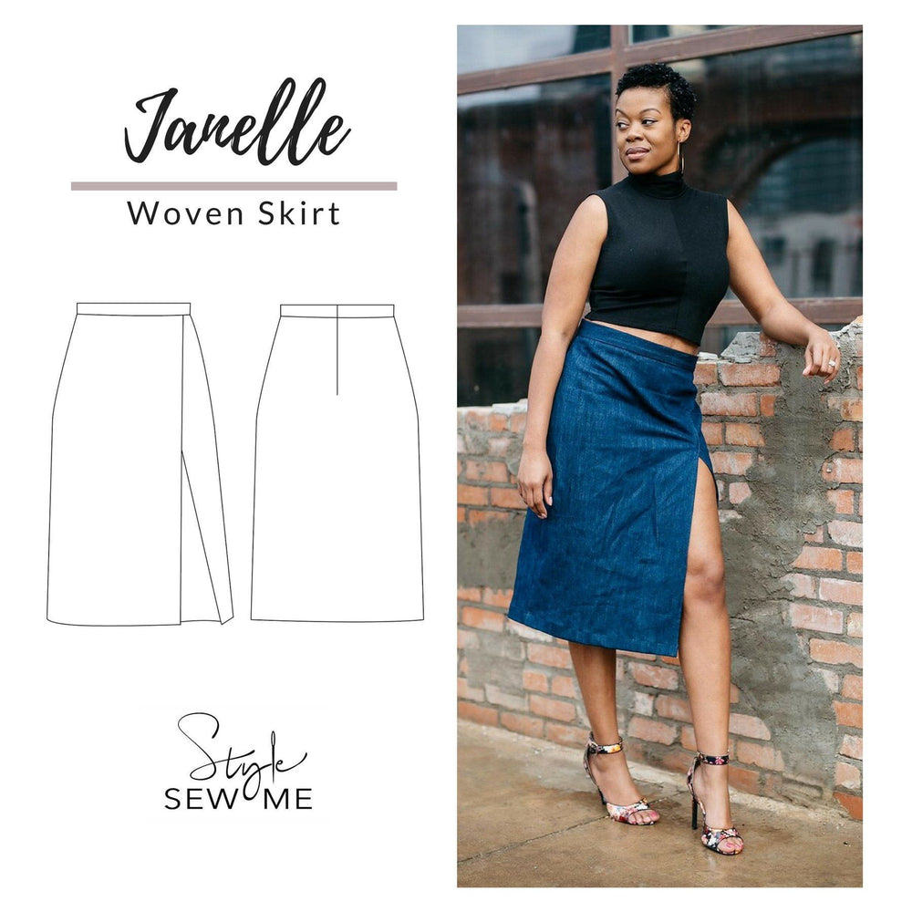 Load image into Gallery viewer, Janelle Skirt Patterns Style Sew Me PDF Download