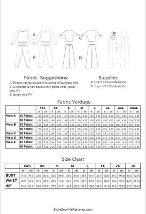 Lisa Loungewear Patterns Style Sew Me