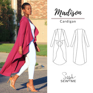 Madison Cardigan Patterns Style Sew Me