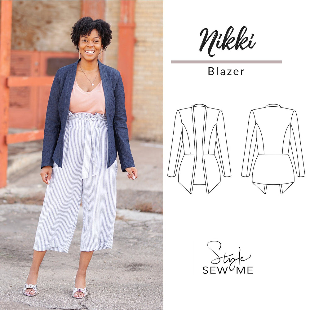 Nikki Blazer Patterns Style Sew Me