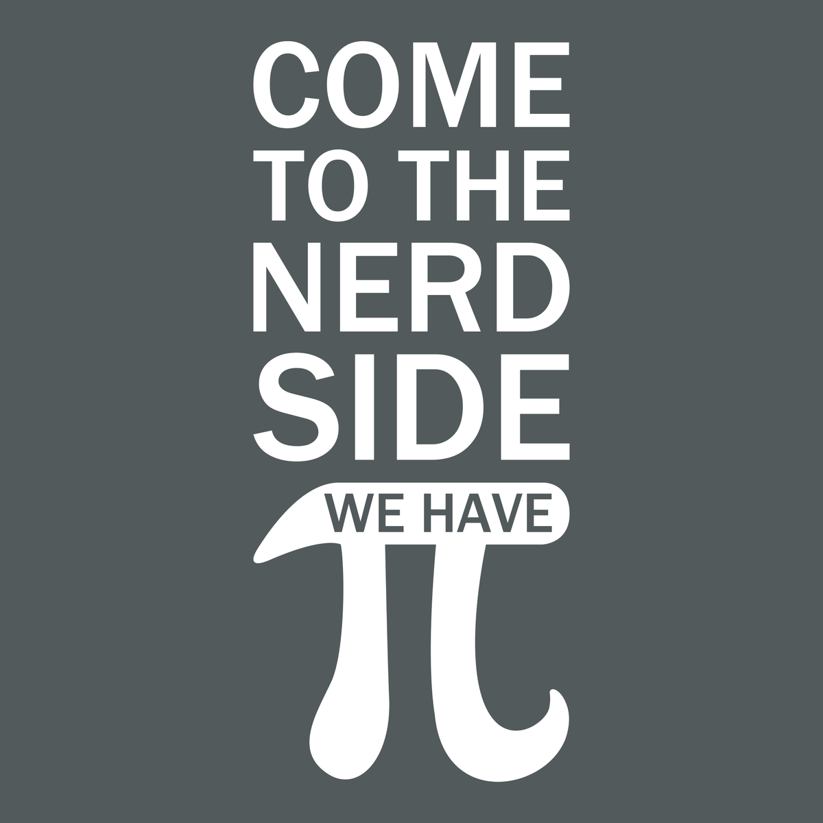 5bee9036 Come To The Nerd Side - We Have Pi | Funny T-shirts | Engineering Outfitters