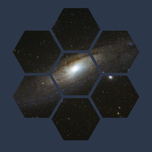 Hexagonal Andromeda Galaxy