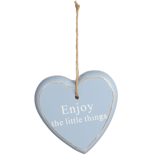 Hanging Wooden Heart with Quotation