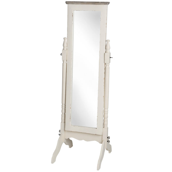 Country Cheval Mirror - White intimacy
