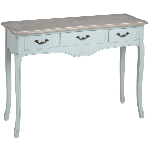 Duck Egg Blue three drawer console - White intimacy