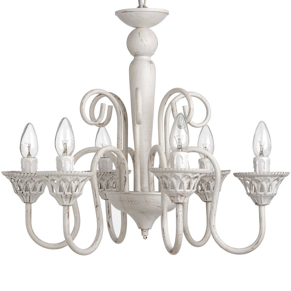 Antique White Chandelier - White intimacy