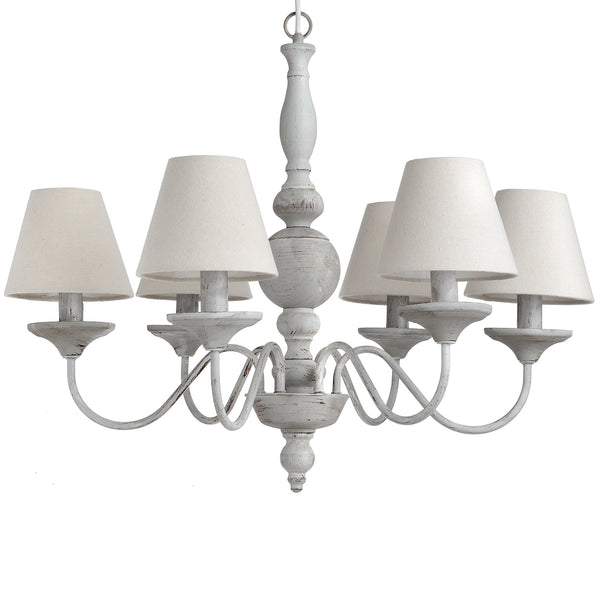 Chandelier with shades - White intimacy