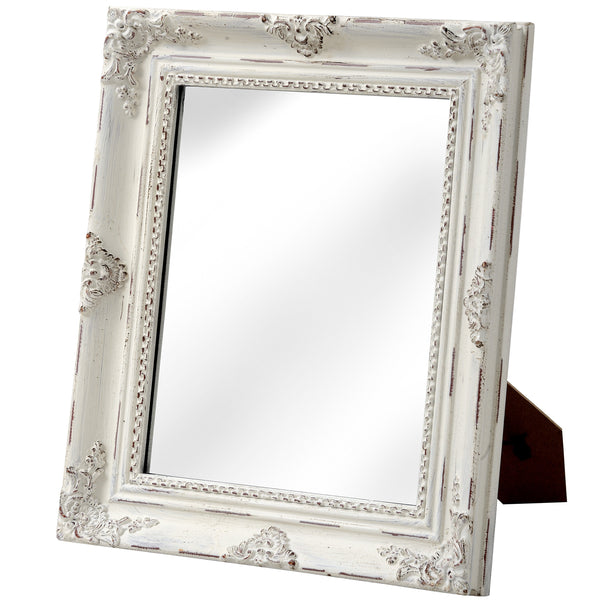 Baroque Antique White Table Mirror - White intimacy