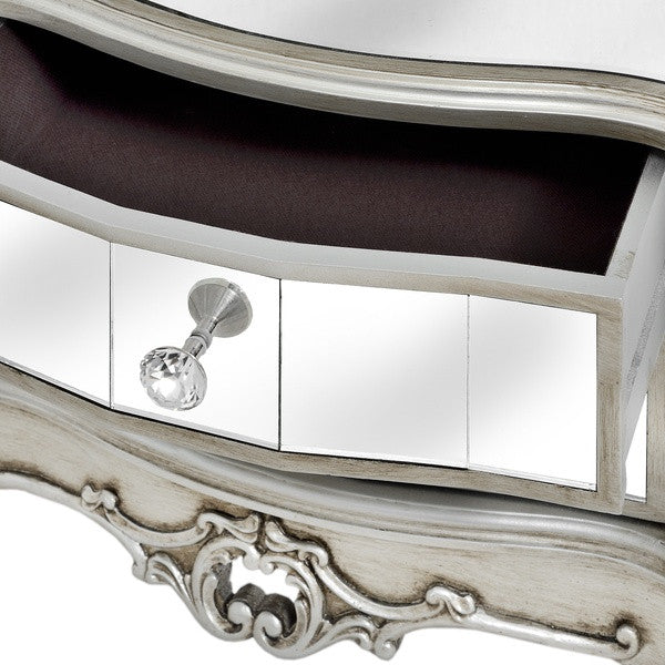 Argente Cheval Mirror With Two Drawers - White intimacy