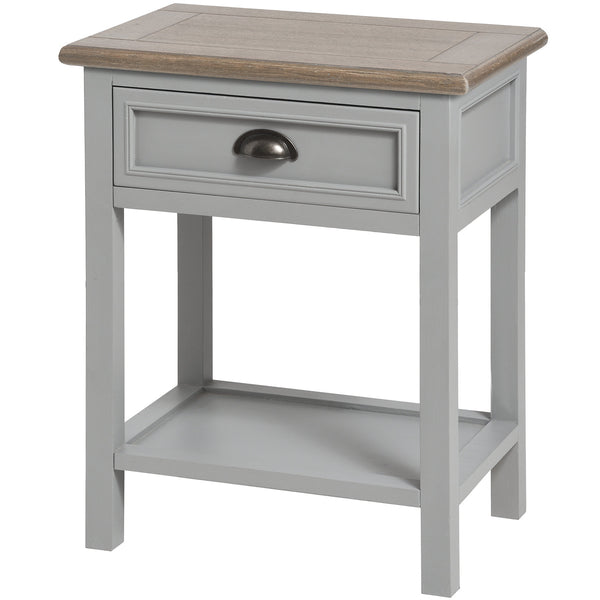 Churchill Collection One Draw Bedside - White intimacy