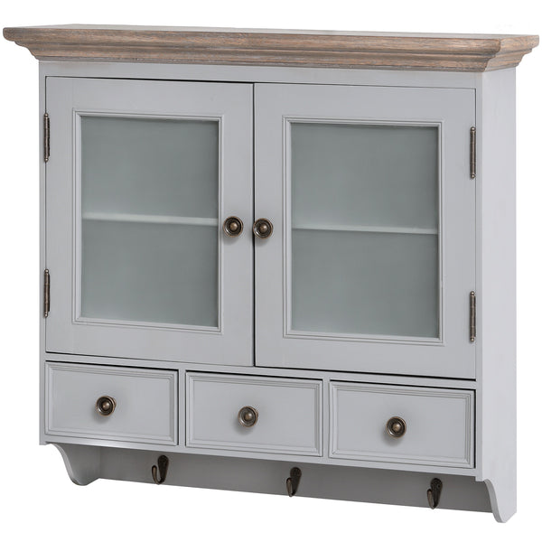 Churchill Collection Glazed Wall Unit - White intimacy
