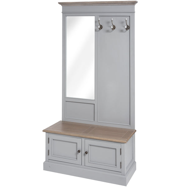 Churchill Collection Mirrored Hall Unit - White intimacy