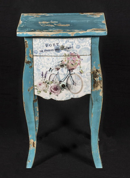 Bicycle Post 3 Drawer Chest - White intimacy