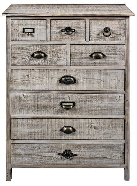 9 Drawer Wooden Cabinet - White intimacy