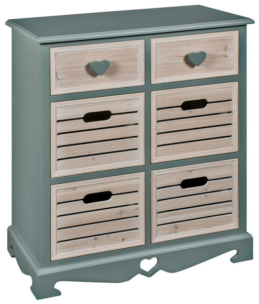 Heart 6 Drawer Cabinet