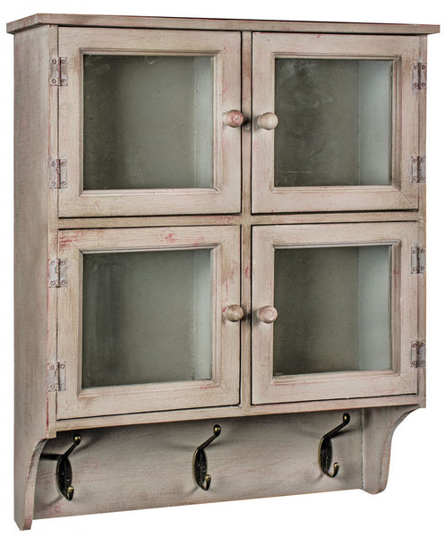 4 Door Cabinet With Hooks - White intimacy