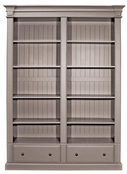 Grey Double Bookcase