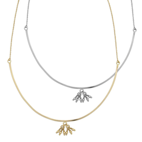 141G Gold Bells & Chimes Necklace